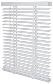 Intensions Jaloezie 90x175x6cm lamellen 5cm Hout met Aluminium raamwerk Wit 1187317