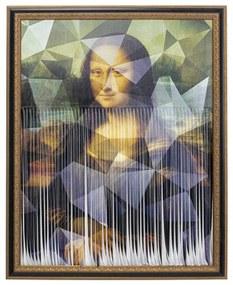 Kare Design Mademoiselle Lisa Versnipperd Schilderij Klassiek