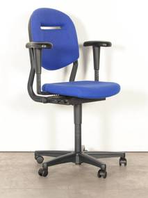 Bureaustoel 220, blauw, 3D armleggers