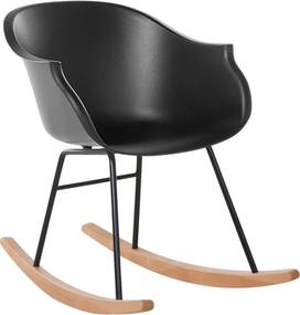 Stoel zwart - schommelstoel - tv-stoel - swingstoel - HARMONY