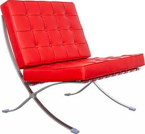Barcelona Chair (replica) - Rood
