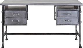 Eleonora Industrieel Metalen Bureau Met Lades - 140 X 60cm.