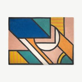 Supermundane groot wollen vloerkleed, 160 x 230 cm, meerkleurig