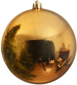 Kerstbal plastic glans 250mm licht goud KSD
