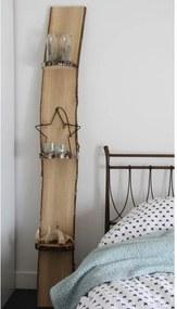 Wandplank natuurlijk hout staand H 130 cm