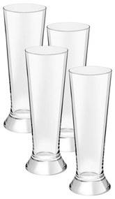 Bierglazen op voet - 37 cl - set van 4