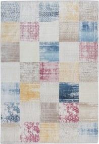 Dejaroom | Vloerkleed Colourblock lengte 170 cm x breedte 120 cm x hoogte 0.8 cm multicolour vloerkleden bovenkant: polyester, | NADUVI outlet