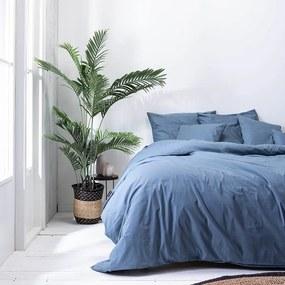 Presence Plain Percale - Donkerblauw 1-persoons (140 x 240 cm + 1 kussensloop) Dekbedovertrek