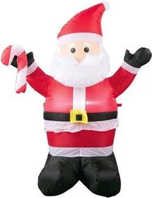 Opblaasbaar kerstfiguur Kerstman
