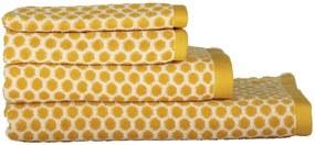 Handdoeken - Zware Kwaliteit - Gestipt Okergeel (okergeel)