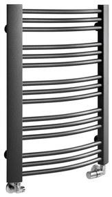 Handdoekradiator Sapho Egeon Gebogen 59.5x81.8 cm Antraciet