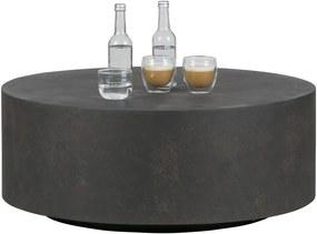 Woood Salontafel Dean Betonlook Bruin Large 80 cm - Woood - Industrieel & robuust