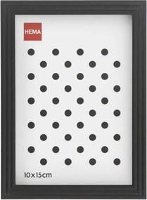 Fotolijst - Hout - Zwart - Relief Smalle Rand 10 X 15
