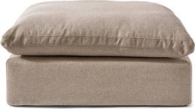 Rivièra Maison - Residenza Footstool, oxford weave, anvers flax - Kleur: beige