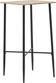 Bartafel 60x60x111 cm MDF eikenkleurig