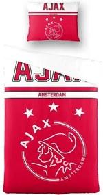 Dekbedovertrek ajax rood/wit 140x200/60x70 cm
