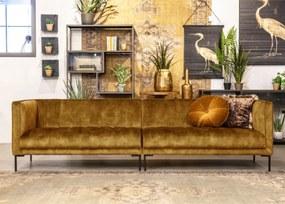 SEVN Siem Fluwelen Bank 5zits - Stof: Adore-Gold - Poot: Metalen Hoekpoot Zwart
