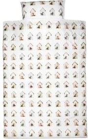 Vogelhuisjes Dekbedovertrek 140 x 220 cm