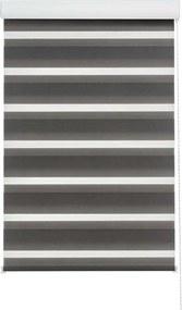 Roljaloezie lichtdoorlatend - antraciet - 90x250 cm - Leen Bakker