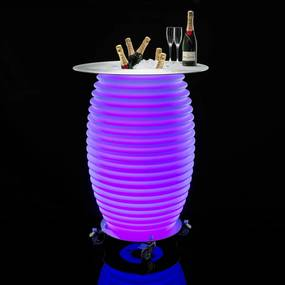Nikki.Amsterdam The.Bar Table Buiten Bartafel Met Koeler En LED - 69 X 69cm.