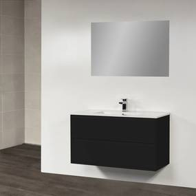 Badkamermeubelset New Future 100cm Hoogglans Zwart