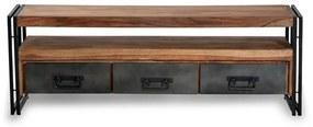 TV-meubel Van Sheeshamhout 160 Cm - 160x40x55cm.