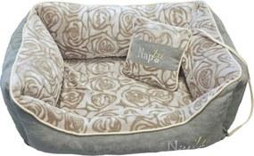 Nap'zzz divan met kussen 90x70 cm grijs/roos