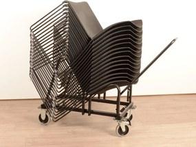 Stoelen trolley voor Nimble stoelen zwart geremd model