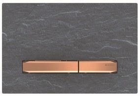 Bedieningsplaat Geberit Sigma 50 voor 2-toets Spoeling Rosé Goud / Mustang Leisteen
