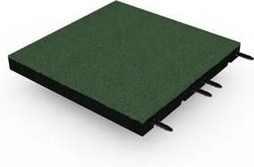 Rubber tegel met pen- en gat verbinding 50x50 cm - 55 mm - Groen