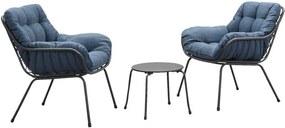 Le Sud loungeset Orange - antraciet/blauw - 3 delig - Leen Bakker