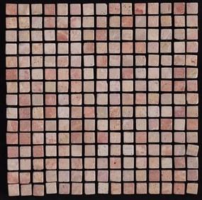 Mozaiek red Marmer 1,5x1,5x1 anticato