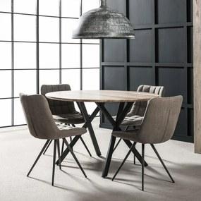 Ronde eettafel 'Nola' MDF 120cm, kleur 3D Eikenlook