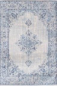 Louis de Poortere - Khayma Fairfield Blue Border 8670 - 140 x 200 - Vloerkleed