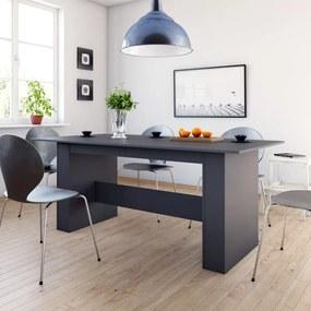 Eettafel 180x90x76 cm spaanplaat grijs