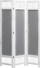 Kamerscherm met 3 panelen 105x165 cm stof grijs
