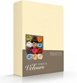 Romanette Luxe Hoeslaken Velours - Geel 80/100 x 200/220