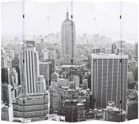 Kamerscherm New York bij daglicht 228x170 cm zwart en wit