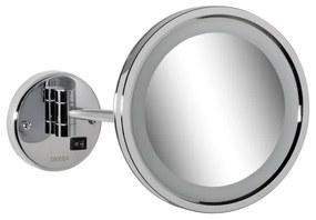 Cosmetic Collection scheerspiegel rond 21,5 cm met LED verlichting chroom