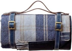 Picknickkleed wol: grijs, ruiten Met band
