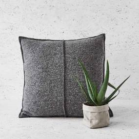 Kussen grijs, wol, Simple