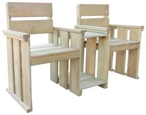 Tuinbank tweezits 150 cm geïmpregneerd grenenhout