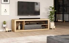 Tv meubel Wotan Eiken & Betonlook - 140 cm