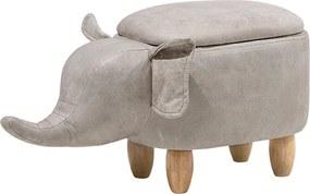 Hocker kunstleer lichtgrijs ELEPHANT