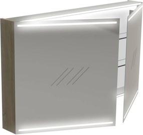 Deluxe Spiegelkast 70x120x13,5 cm Antraciet Hoogglans