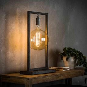 Industriele Tafellamp Met Rechthoekig Frame