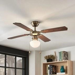 Plafondventilator Joulin, verlicht, eiken - lampen-24