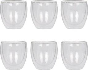 Bodum Pavina dubbelwandig glas 25 cl set van 6