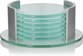 Leonardo Spirit onderzetters van glas set van 6