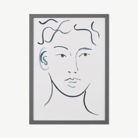 Frances Costelloe, 'Face Forwards' limited edition, ingelijste print, A3